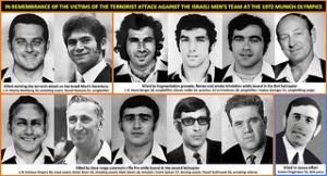Israeli Olympians murdered in Munich in 1972