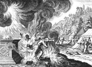 Nadab and Abihu Destroyed by Fire (Matthäus Merian the Elder)