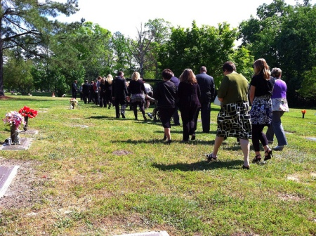 A funeral is a time to be present for the mourners.