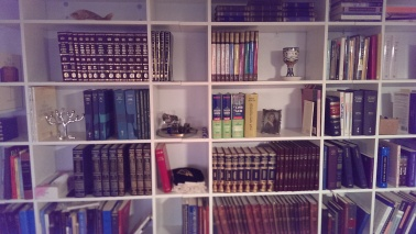 How many Jewish objects can you identify on my shelves?