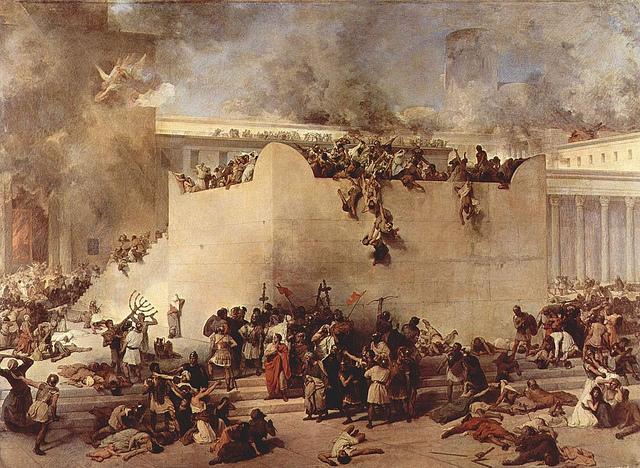 "Francesco Hayez, ""Destruction of the Second Temple"" 1867, photographed by marsmet543"