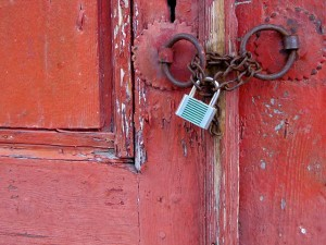 """Red Door with Lock"""
