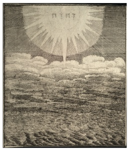 Depiction of Genesis 1:2 by Wenceslaus Hollar (1607-1677)