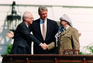 Probably the most famous photo of PM Rabin, taken on Sept 13, 1993.