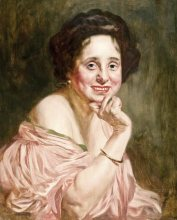 Portrait of a Laughing Lady by Bertalan Karolvszky