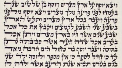 This is script from the Torah scroll.