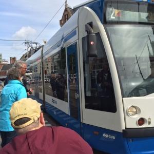 Boarding the Tram