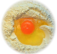 how to get egg yolk out of wole