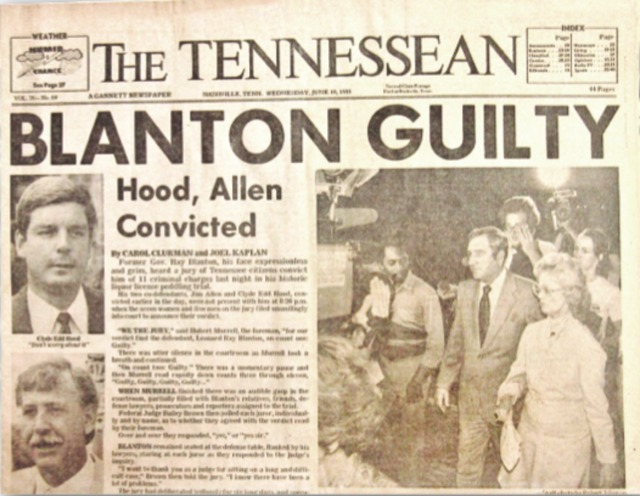 Tennessee Memory Lane: Remembering Governor Ray Blanton