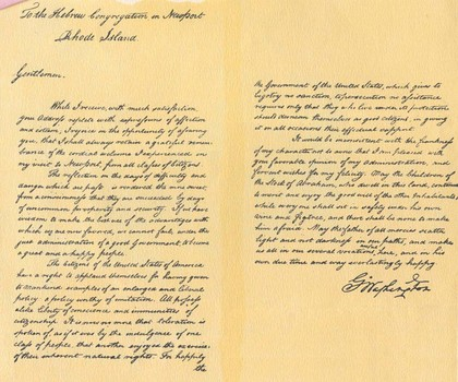 Letter to Touro Synagogue