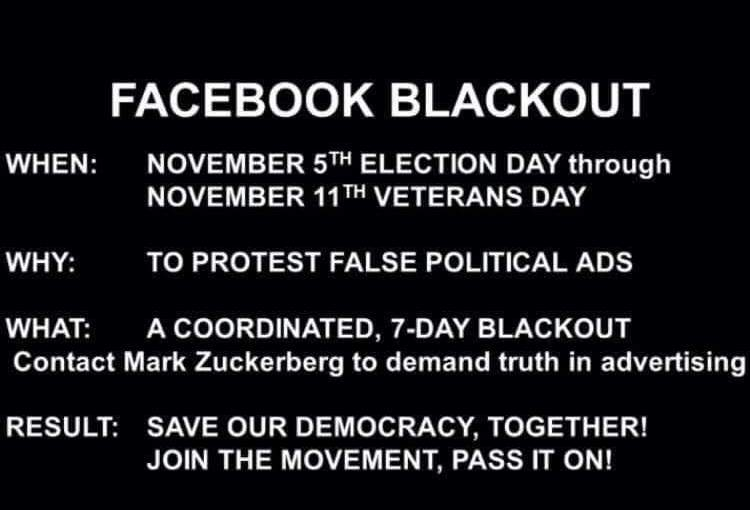 Facebook Blackout!
