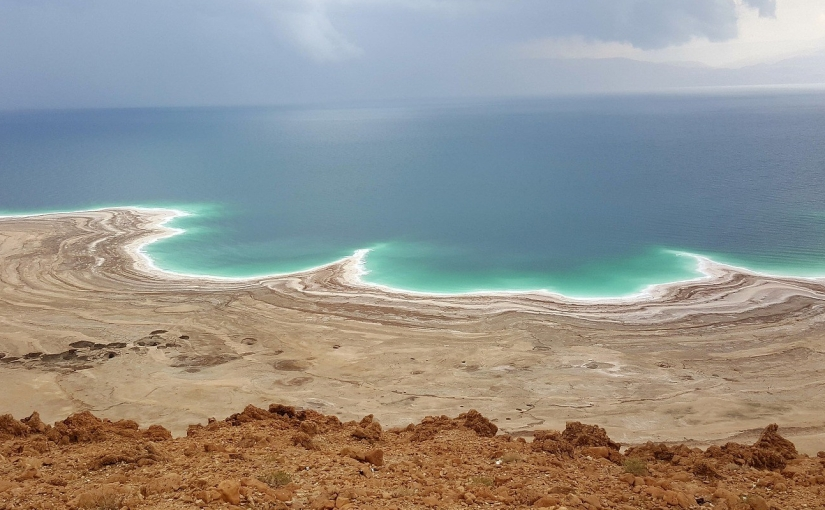 Shore of the Dead Sea, showing the salt